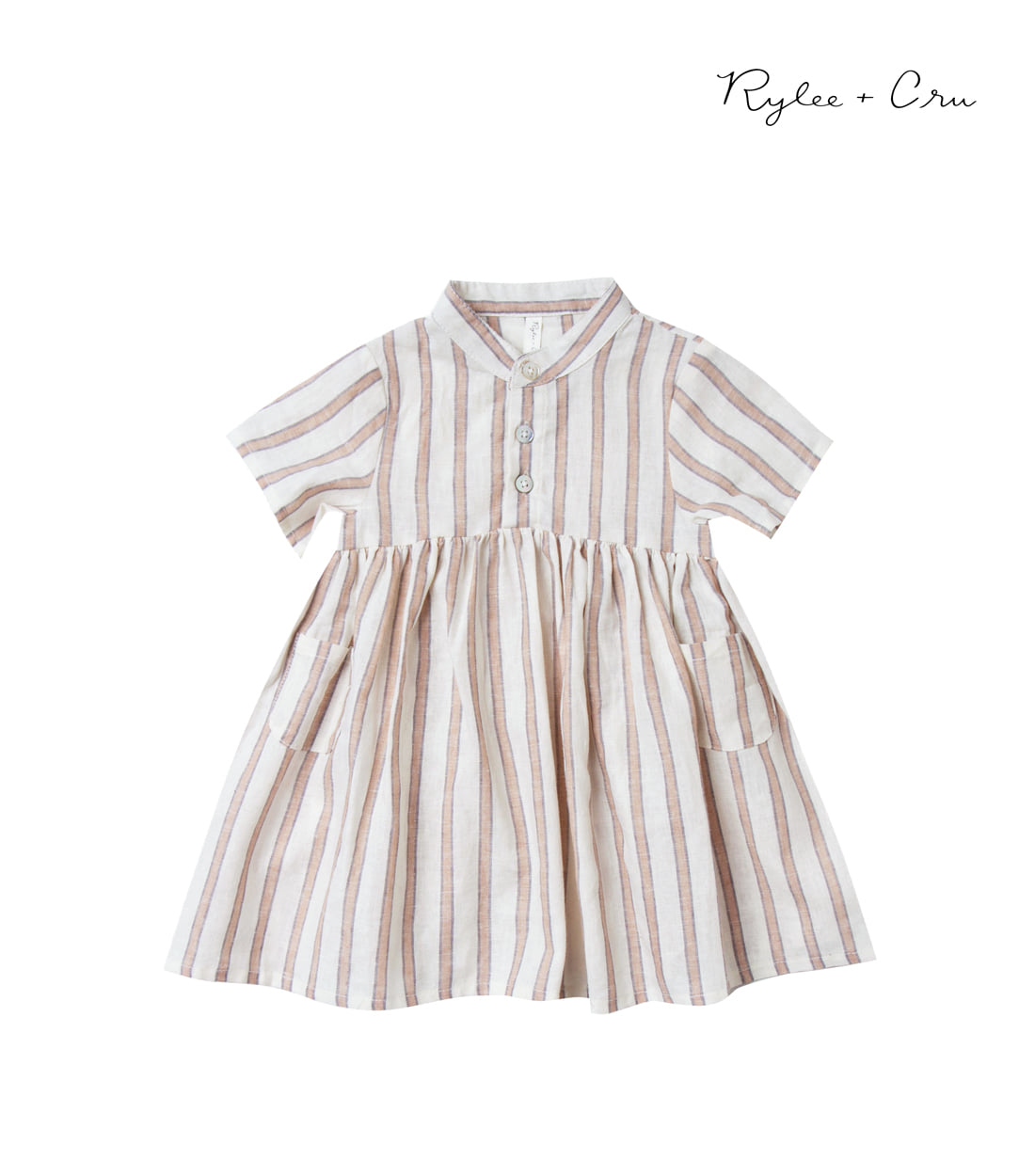 라일리앤크루 STRIPE ESME DRESS / TRUFFLE