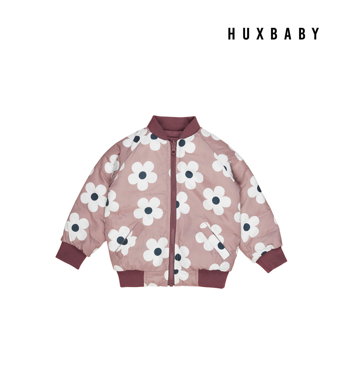 [PRE-SALE] 헉스베이비 FLOWER REVERSIBLE BOMBER / PLUM AND BERRY (배송 1주 소요)