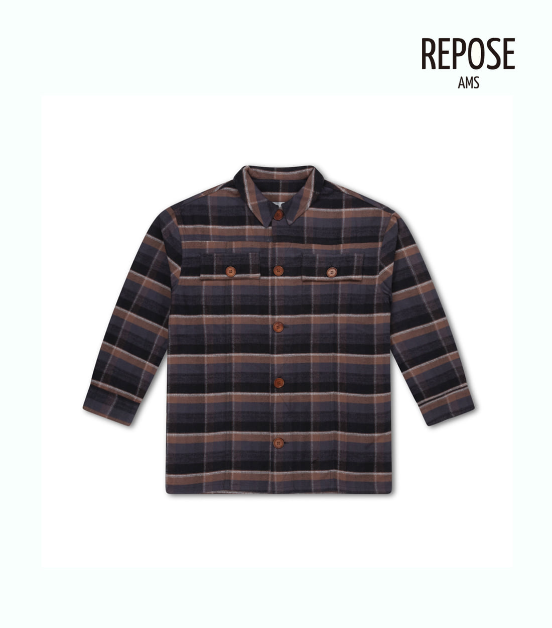 리포즈암스 SHIRT / BROWN CHECK