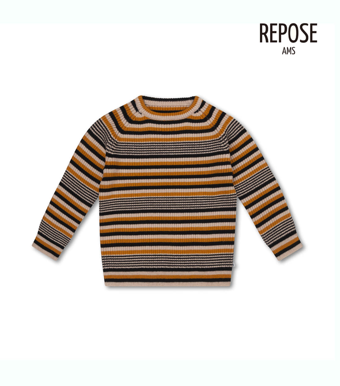 리포즈암스 KNITTED RAGLAN SWEATER / RETRO STRIPE