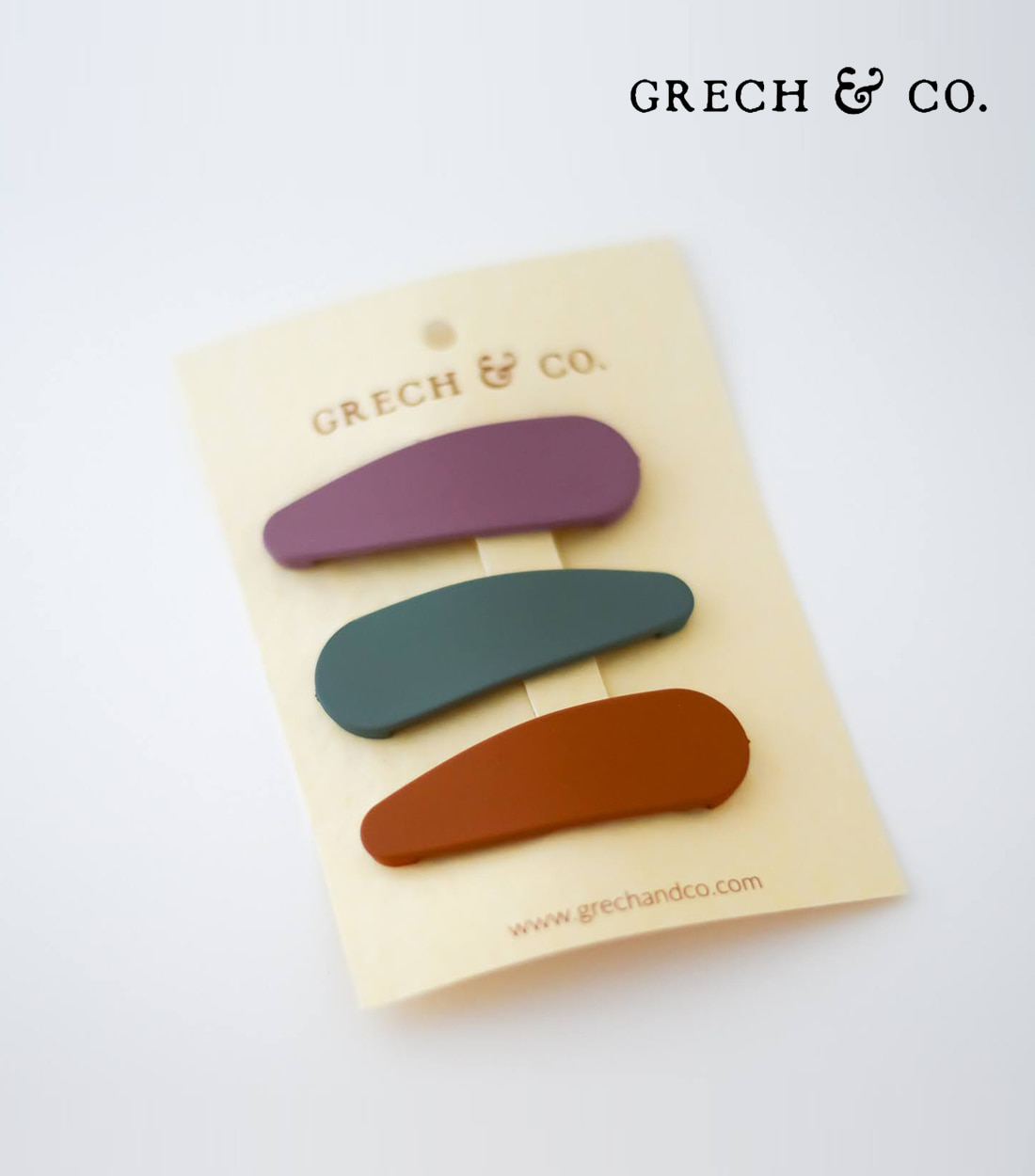 그렉앤코 SNAP MATTE CLIP SET OF 3 / FERN, SPICE, BURLWOOD